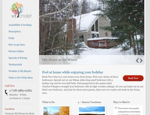 Vermont Ski House For Rent